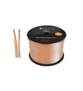Przewód głośnikowy CCA 2x4 ECa LB0048 LIBOX /100m
