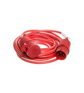Kabel przedłużajacy (przedłużacz) Super-Solid IP44 10m CEE 400V/16A czerwony AT-N07V3V3-F 5G1,5 1168580