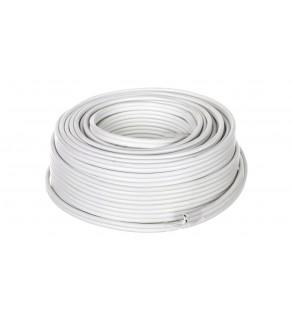 Przewód głośnikowy CU 2x2,5 OFC biały 15116 /25m