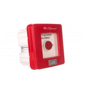 Wyłącznik alarmowy 4Z 12A /WYŁĄCZNIK GŁÓWNY/ IP55 WGp-4s 921593