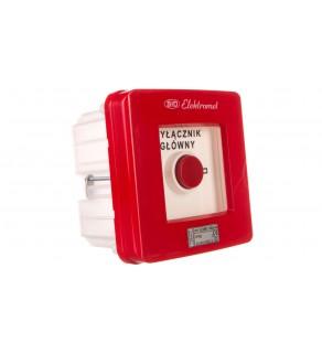 Wyłącznik alarmowy 2R 12A /WYŁĄCZNIK GŁÓWNY/ IP55 WGp-3s 921592