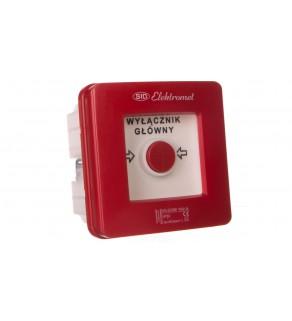 Wyłącznik alarmowy 2Z 12A /WYŁĄCZNIK GŁÓWNY/ IP55 WGp-2s 921591