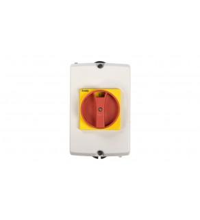 Obudowa do rozłącznika GA016A-GA040A pokrętło czerwono-żółte IP65 GAZ1