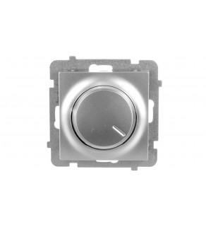 AS Ściemniacz przyciskowo-obrotowy /żarowy i halogenowy/ srebro ŁP-8G/m/18