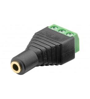 Gniazdo jack 3,5mm (3-pinowy, stereo) - mocowanie śrubowe 76746 /10szt.