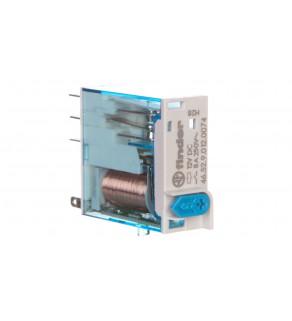 Przekaźnik interfejsowy miniaturowy 2P 8A 12V DC 46.52.9.012.00740