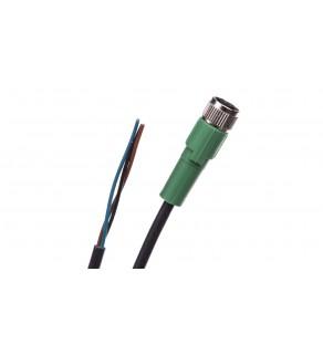 Kabel czujnika urządzenia wykonawczego prosty M8 1,5m SAC-3P- 1,5-PUR/M 8FS 1669712