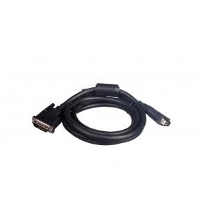 Kabel połączeniowy DVI-D Dual Link Typ DVI-D(24+1)/DVI-D(24+1), M/M czarny 2m AK-320101-020-S