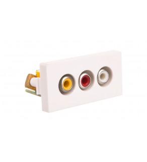 TouchMe Moduł 1/2 gniazdo audio i video białe TM908W