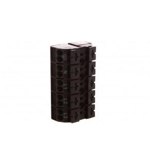Blok zasilający 5-biegunowy czarny nadruk PE-N-L1-L2-L3 862-1505/999-950 /200szt.