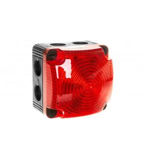 Sygnalizator ostrzegawczy czerwony 24V DC LED błyskowy podwójny 853.110.55