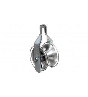 Rolka pojedyńcza aluminiowa łożyskowana fi 77mm ST26.33