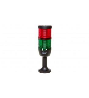 Kolumna sygnalizacyjna kompletna 70mm, 2 człony 24V DC czerwony-zielony TK-IK72L024XM01