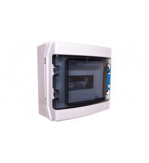 Szafka modułowa 1x8 natynkowa odporność UV IP65 IKA-1/8-ST-UV 174189