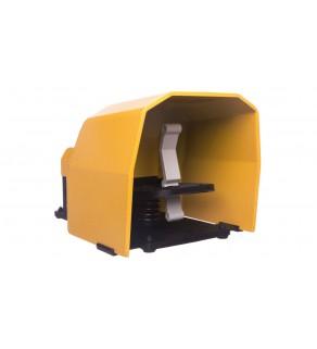 Wyłącznik nożny pojedynczy z osłoną żółą metal 1Z 1R T0-PDKS11BX10