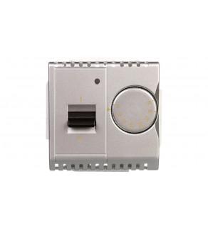Simon Basic Regulator temperatury z czujnikiem wewnętrznym 16A 230V srebrny mat BMRT10w.02/43