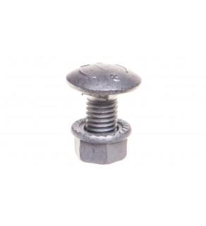 Śruba z łbem grzybkowym z nakrętką kołnierzową ząbkowaną SGKFM10x20 651641 /100szt.