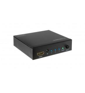 Przełącznik/Switch HDMI 4K Ultra HD 3D, HDCP, 1/3-portowy, z pilotem DS-48304