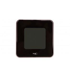 Termometr/higrometr cyfrowy funkcja zegara -20-50C, wilgotność 20-99 bateria CR 2032 czarny 30.5021.01
