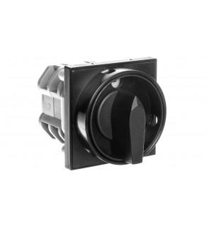 Łącznik krzywkowy 32A 3P mocowanie do pulpitu czoło zamykane czarne ŁK32RGP07