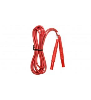 Przewód pomiarowy 2,2m czerwony /wtyki bananowe/ WAPRZ2X2REBB