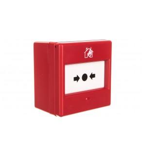 Ręczny ostrzegacz pożarowy w komplecie z szybką 1P IP24D CXM/CO/GP/R/BB 4930010FUL-0048XC