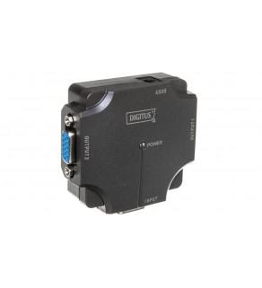 Mini Rozdzielacz/Splitter VGA 350MHz, 1920x1080p, 1/2-portowy DS-41120-1