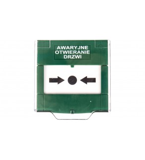 Przycisk awaryjnego wyjścia natynkowy 2A/30V DC ręczny zielony APWK