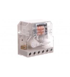 Przekaźnik impulsowy /krokowy/ 1Z 10A 250V, 24V AC montaż w puszkach instalacyjnych lub obudowach 26.01.8.024.0000