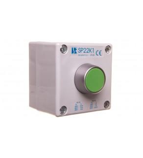 """Kaseta sterownicza przycisk kryty zielony SP22K1""""01-1"""
