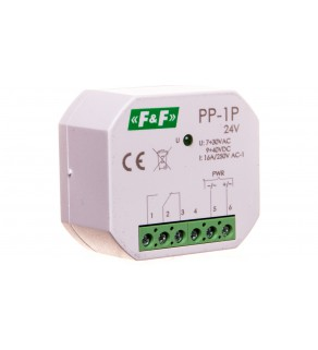 Przekaźnik elektromagnetyczny 1P 16A 7-30V AC/9-40V DC PP-1P-24V