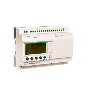 Sterownik programowalny 16wej 10wyj 24V DC RTC/LCD Zelio SR3B262BD