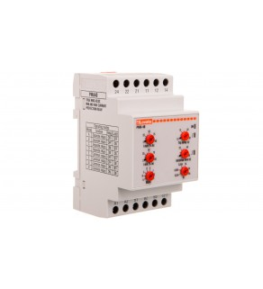 Przekaźnik kontroli prądu 1-fazowy 0,02-16A 24-240V AC/DC 0,1-30s PMA40240