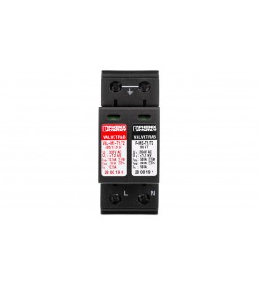 Ogranicznik przepięć B+C Typ T1+T2 12,5kA 1,2kV 240V AC VAL-MS-T1/T2 335/12.5/1+1 2800187