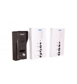 Zestaw domofonowy jednorodzinny z interkomem, bezsłuchawkowy, biały, ELUVIO INTERCOM OR-DOM-RE-920/W