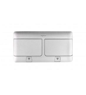 Pop-up Puszka podłogowa 100x210x61,2mm 6-modułowa aluminium 054012
