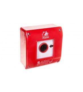 Przycisk ppoż. natynkowy 1Z 1R OP1-W01-A11-M