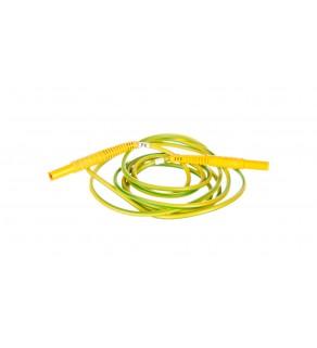 Przewód pomiarowy 2,2m żółty /wtyki bananowe/ WAPRZ2X2YEBB