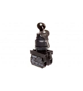 Przycisk sterowniczy 1Z 1R z kluczem bez samopowrotu 0-1 T0-B102A20