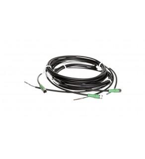 Kabel czujnika 3-piny gniazdo proste M8 wolny koniec 3m SAC-3P- 3,0-PUR/M 8FS 1669725