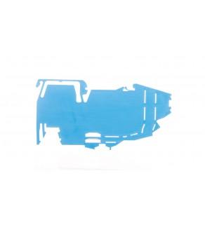 Wspornik szyny zbiorczej bez funkcji blokady końcowej do montażu zatrzaskowego na TS 35 niebieski 2009-304 /25szt.
