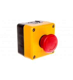 Kaseta z przyciskiem bezpieczeństwa przez obrót 1R czarno-żółta IP65 T0-P1EC400E40