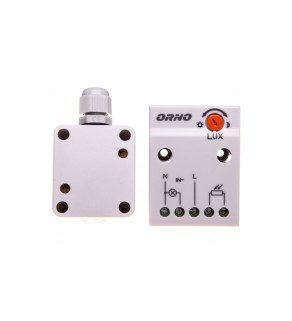 Czujnik zmierzchowy z zewnętrzną sondą w puszce 2300W 2-100lx IP65/IP20 biały OR-CR-232