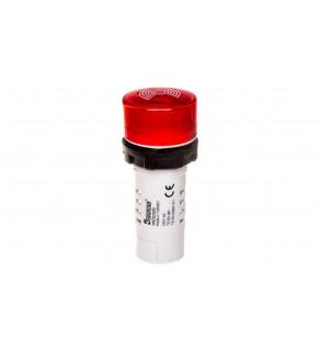 Buzzer, monoblok, 220V AC, 90db, podświetlany, czerwony T0-MBZS220S
