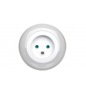 Lampka nocna LED 0,63W z czujnikiem zmierzchu + gniazdo 230V P3307