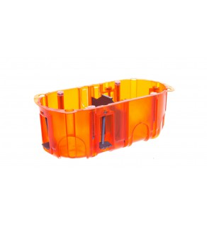Batibox Puszka podwójna podtynkowa 67mm 142x50mm pomarańczowa 080122