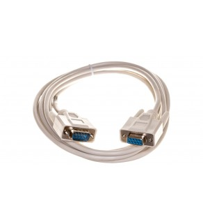 Kabel transmisyjny szeregowy RS232 Sub-D9 (F) - Sub-D9 (M) 3m beżowy