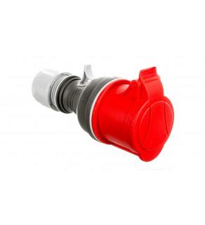 Gniazdo przenośne proste 4P 32A 400V czerwone TWIST GPP 32/4 IP-44 921876