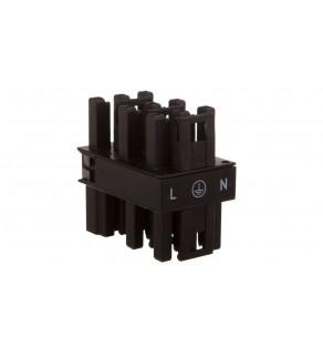 Rozgałęźnik 3-torowy 1x wtyk / 5x gniazdo czarny 770-608 WINSTA