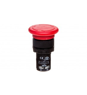 Przycisk dłoniowy bezpieczeństwa monoblok, 1NO+1NC, grzybek 40 mm, czerwony T0-MB102E
